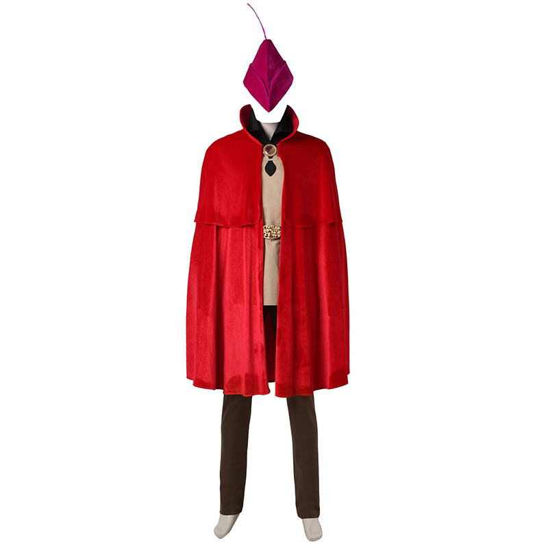 Sleeping Beauty Prince Cosplay Costume Hot Cartoon Red Cloak Cape Halloween Party Outfit One Set for Men Custom Made