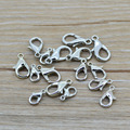 LIEBE ENGEL 100pcs Key Ring Lobster Clasps Swivel Trigger Clips Snap Hook silver Jewelry Making Finding 10mm 12mm 14mm 16mm size