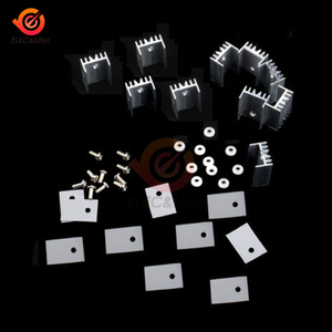 10PCS TO-220 Silver Alloy Aluminum Heat Sink for MOSFET Voltage Regulator With screws Radiator Heatsink Cooler 20x15x11mm(China)
