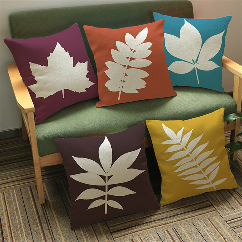 high quality modern Maple leaves Cushion Cover Pillow case Sofa car seat coffee shop bar Home party living room Decoration gift