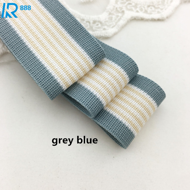 40 mm 4cm High quality wide stripe cotton ribbons DIY accessories hand made cotton tape 5 yards lot in Ribbons from Home Garden