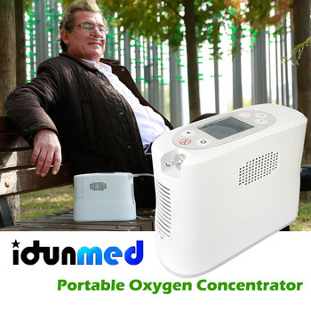 idunmed Oxygen Concentrator Generator Portable Mini Machine With Oxygen Cannula Battery Operated For Travel Outdoor Home Driving