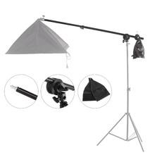 Selens 78-138cm Top Light Telescopic Boom Arm w/ Weight Bag Sandbag for flash Video light E27 studio softbox