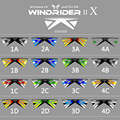 Profesional Quad Línea Cometa Del Truco 2.42 M Fácil de Volar Deporte Parque Flying Kite Beach 16 Colores Windrider X Ventilados Kite