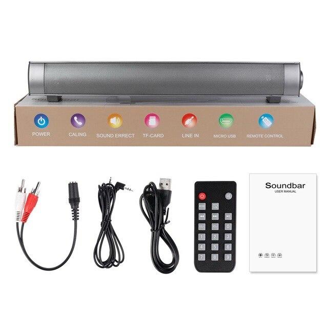 2b36e921c33 Bluetooth Speakers Soundbar for TV Sound bar LP-08 HIFI Soundbar Speaker  Boom Box For Computer PC Tablet TV with Remote Control