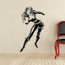 Black Widow Wall Decal Superhero Vinyl Sticker Home Art DC Marvel Comics Decor Mural Removable wall stickers