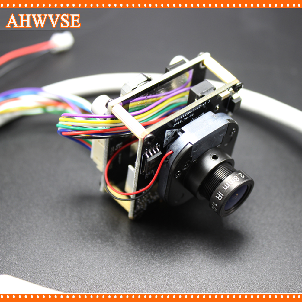 AHWVSE High Resolution 2.8mm lens 1920*1080P 720P 960P HD POE IP camera module board with LAN cable ONVIF P2P IRCUT