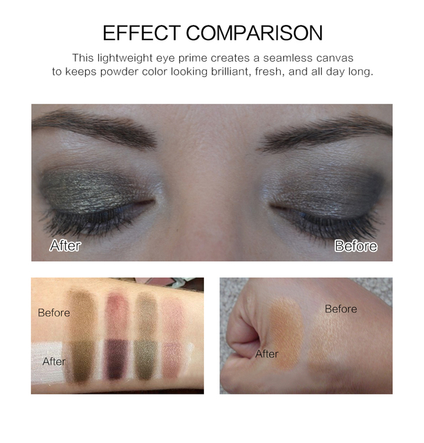 Make Up Oil Control Brighten Long Lasting Cosmetic Eyeshadow Primer Makeup Eye Base Cream Liquid Eye Shadow Primer 3