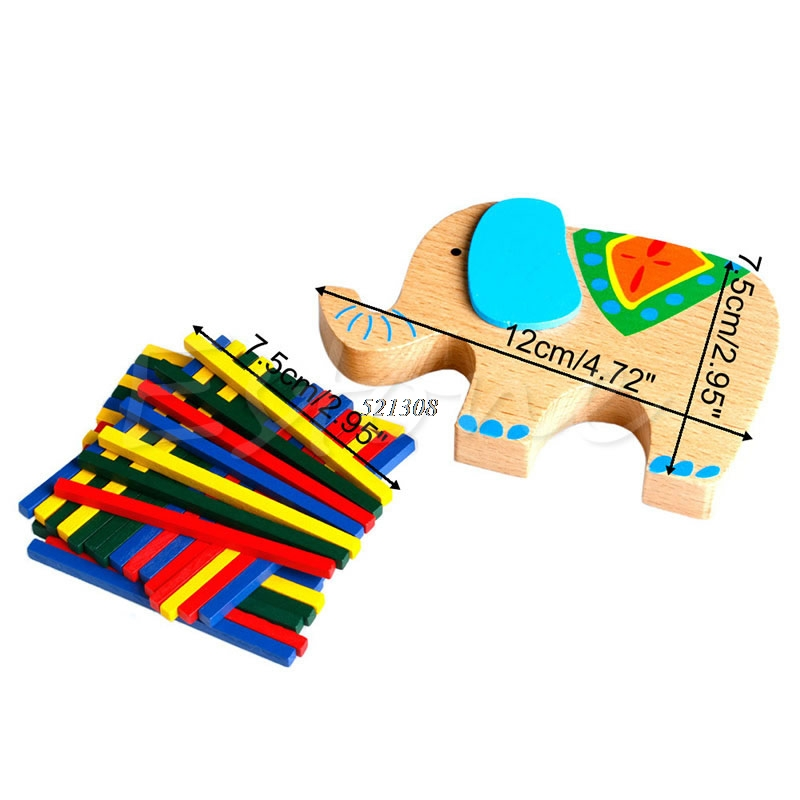 Bayi Mainan Pendidikan Gajah Unta Menyeimbangkan Blok Mainan Kayu - Mainan bangunan dan konstruksi - Foto 4