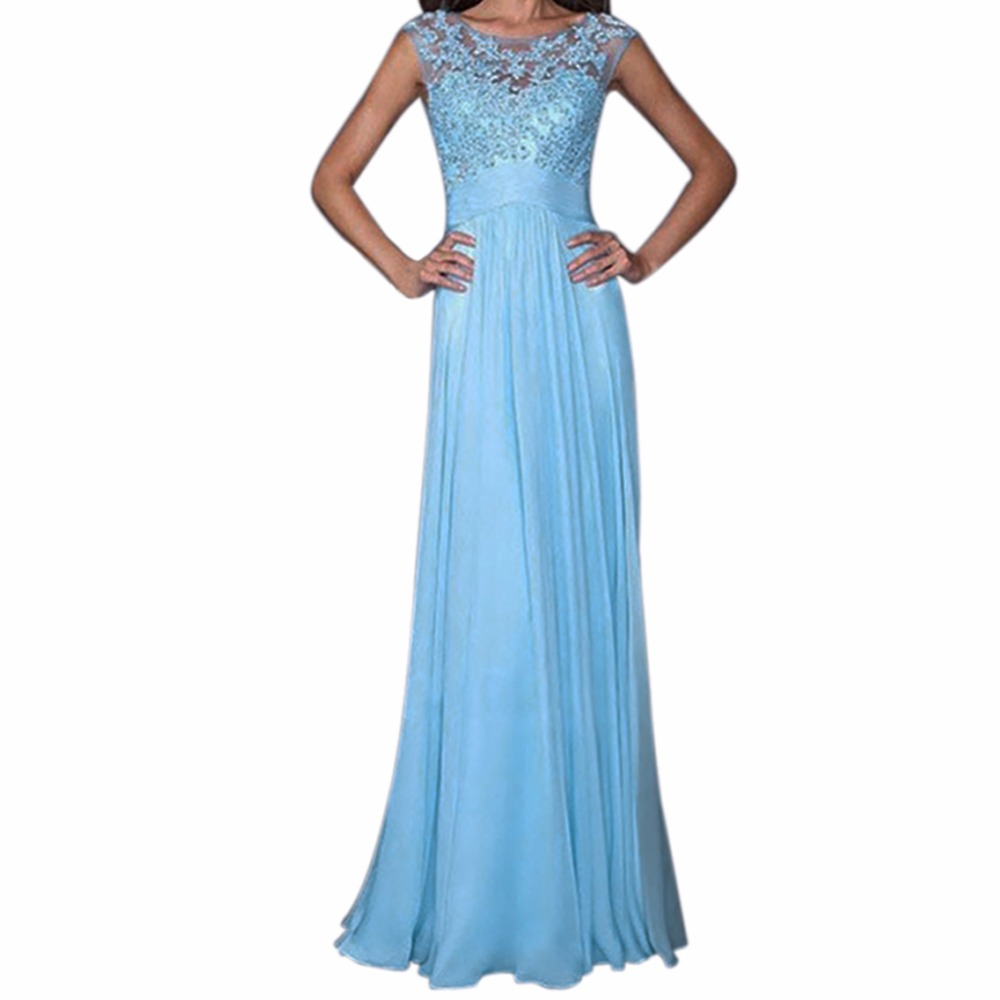 Summer Women Maxi Dress Lace Dress Bridesmaid Prom Ball