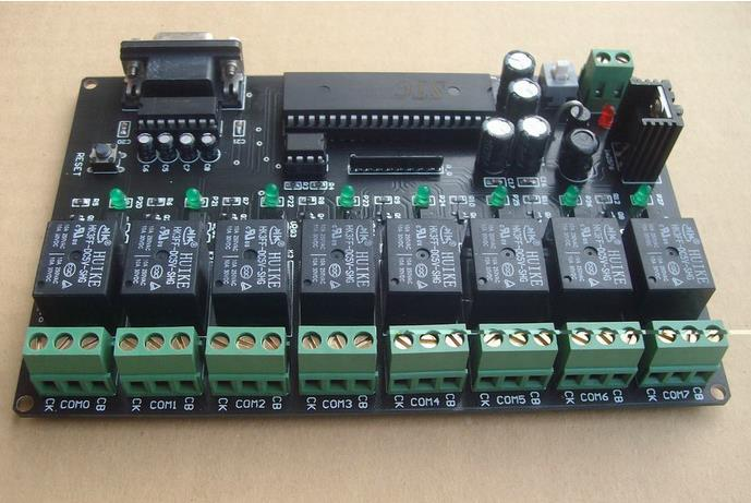 Free Shipping! 1pc   storage RS232 12V PC computer control Eight - channel Relay Control Board communication integrated circuit