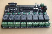 Free Shipping! 1pc storage RS232 12V PC computer control Eight channel Relay Control Board communication integrated circuit