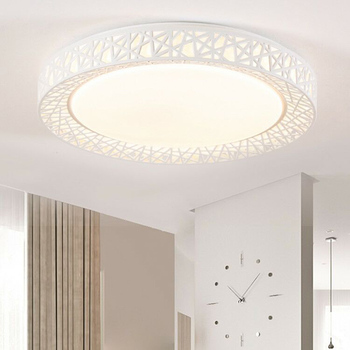 Lámpara LED redonda de Nido de Pájaro para techo, accesorios modernos para sala de estar dormitorio cocina yu-home