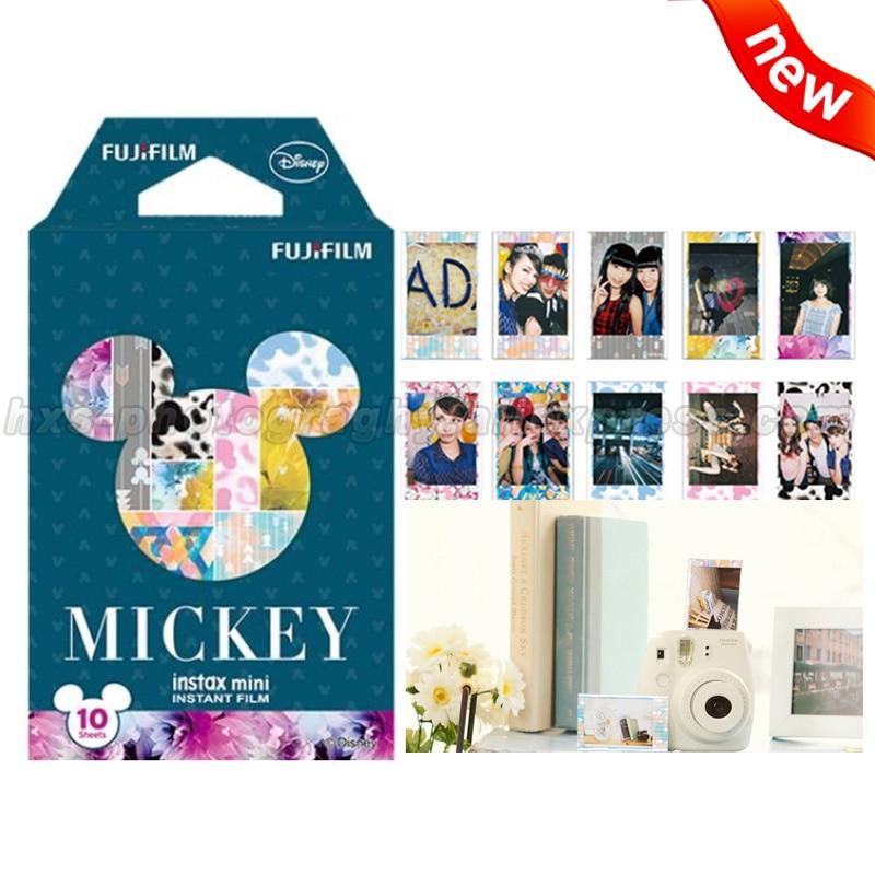 New Mickey Fujifilm Instax Mini 9 Film 10 Sheets Photo Paper for Fuji Instant Mini 9 8 70 90 25 50s Camera Share SP-1 SP-2 SP-3