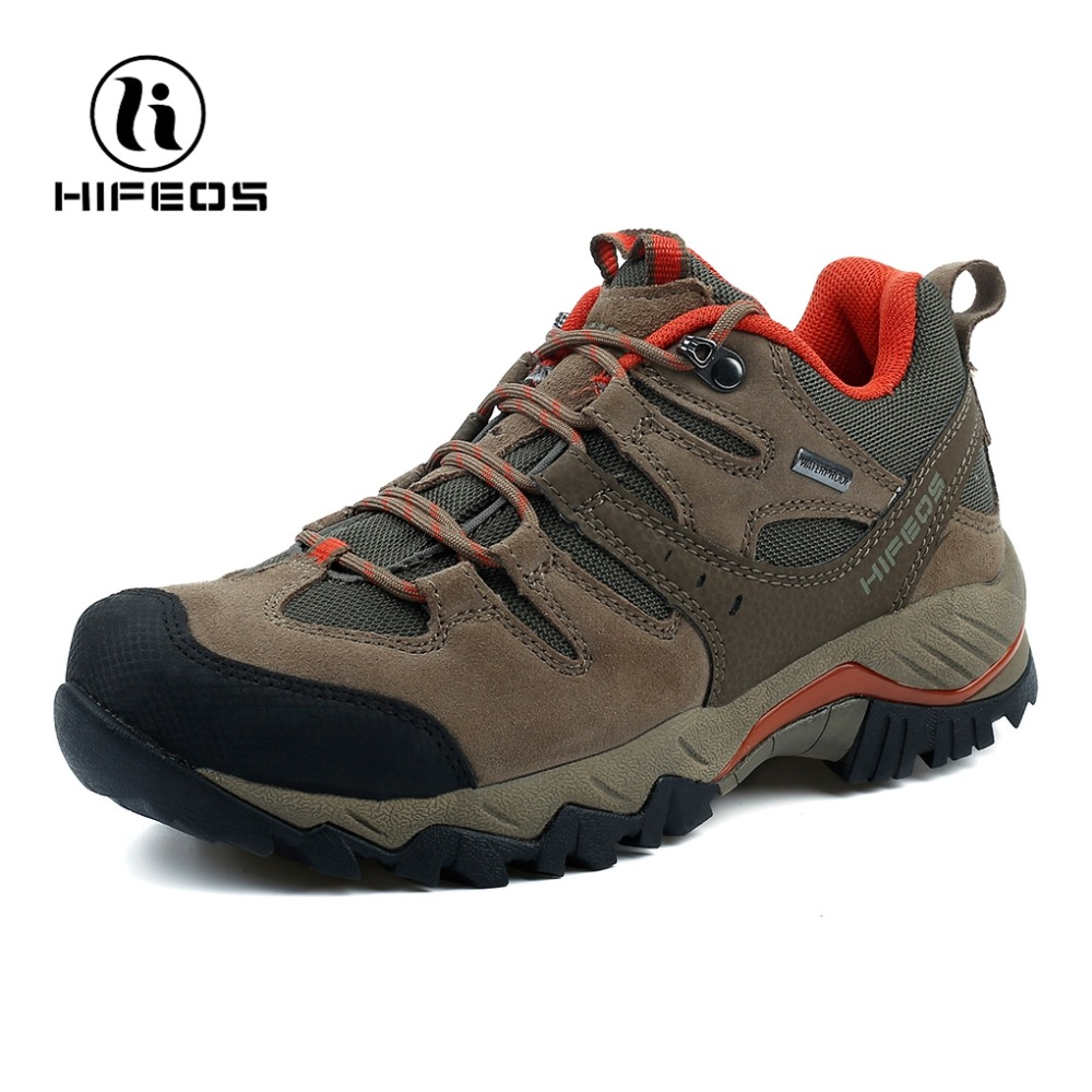 HIFEOS men's hiking shoes winter breathable waterproof mountain tactical boots outdoor sports walking camping climbing sneakers hifeos men winter outdoor hiking shoes couple anti slip breathable boots mesh couple climbing mountaineer low top sneakers m067