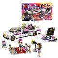 2017 friends series Pop Star's Luxury car 265pcs building blocks bricks toys children gift lepin compatible 10405