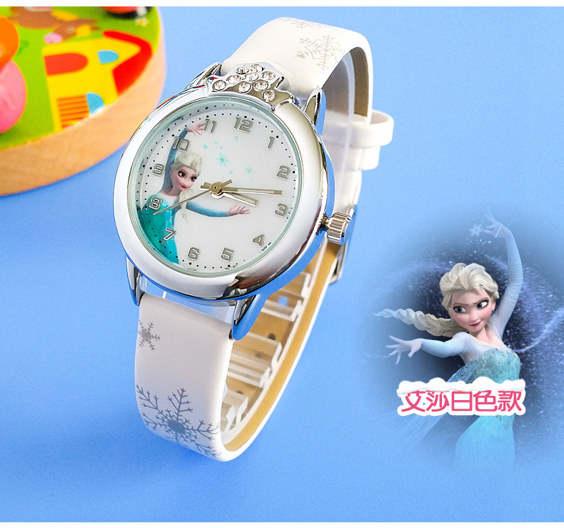 Relogio Feminino New Relojes Cartoon Children Watch Princess  Watches Fashion Kids Cute Rubber Leather Quartz Watch Girl #5
