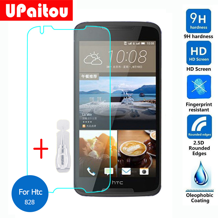 UPaitou For Htc Desire 828 Tempered glass Screen Protector 2.5 9h Safety Protective Film on D828 D828W Dual Sim