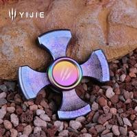 New Fidget Spinner YIJIE Hand Spinner For Adults Kid Metal High Speed DIY Bearing Finger Spinners