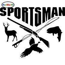 Car Styling Sportsman Hunting Fishing Deer Fish Gun Car Stic