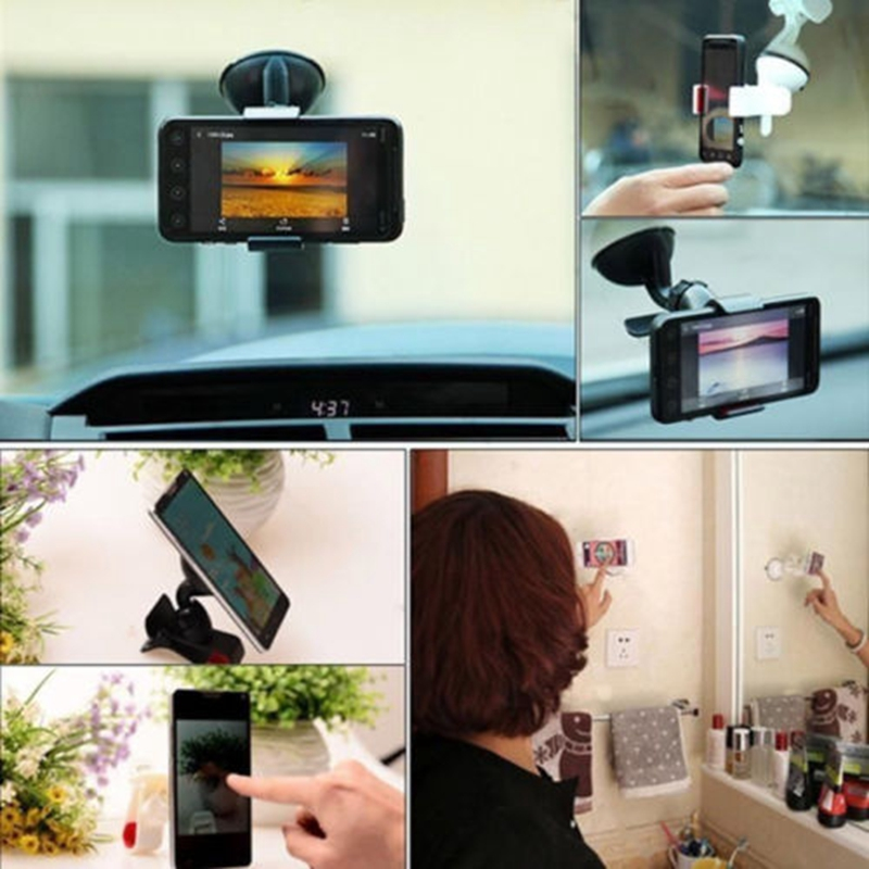 360 Degree Rotating Car Windshield Holder Mount Stand For Tablet PC Mobile Cell Phone GPS Wholesale C26