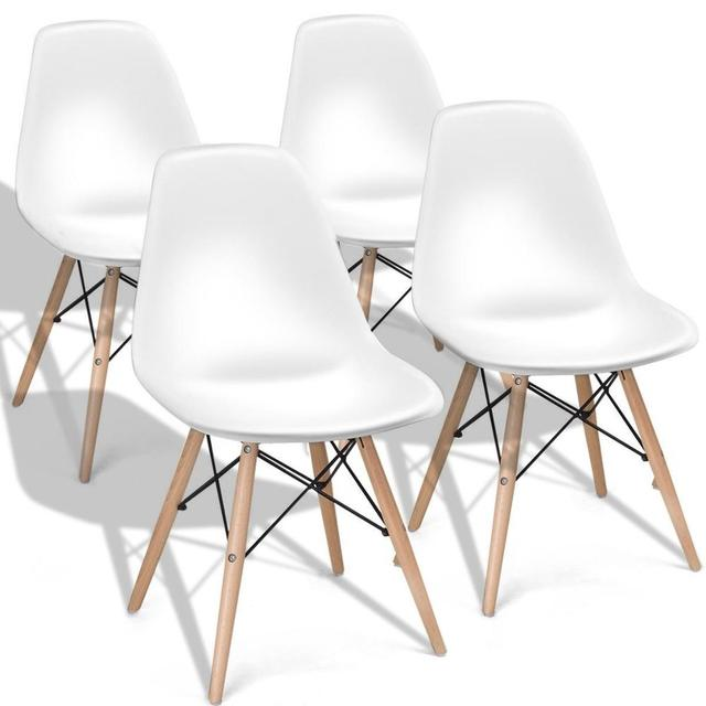 4pcs Mid Century Modern Dining Chair