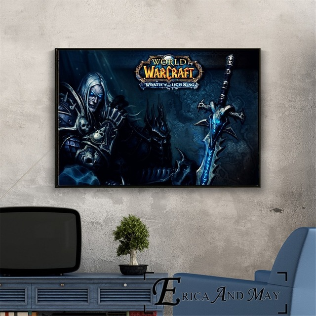 Lich King WOW Game Artwork Vintage Posters and Prints Wall art Decorative Picture Canvas Painting For Living Room Home Decor  3