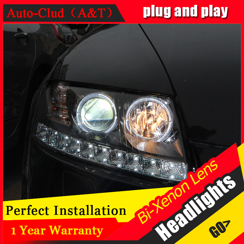 Auto Clud Car Styling for Audi A6 C5 Headlights 2005-2008 A6 LED Headlight DRL Lens HID Xenon bi xenon lens Double Beam H7 стоимость