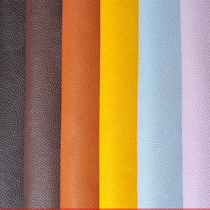 Image 2 - 100*138cm Litchi Synthetic Leather PU Leather Fabric Artificial Faux Leather Fabrics DIY Bags Sofa Decoration Sewing Materials