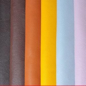 Image 2 - 100*138cm ลิ้นจี่หนัง PU หนังผ้าประดิษฐ์ Faux หนังผ้า DIY กระเป๋าโซฟาตกแต่งเย็บวัสดุ ธรรมดาสี Faux เทียมหนังสังเคราะห์ผ้าจักรเย็บผ้ากระเป๋ารองเท้า DIY วัสดุ