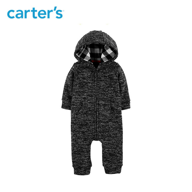 c8759d81f8a1 Carters baby jumpsuit cute hooded fleece jumpsuit baby boy overalls newborn  baby clothes 127H434
