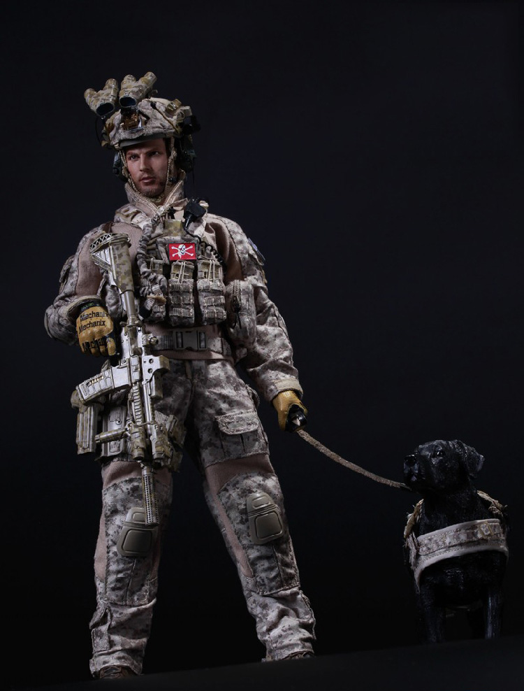 1/6 US Navy SEAL Team Six DEVGRU Halo Action Figure With DOG Colletible Model Toys us navy uss carl vinson cvn 70 supercarrier 5 inch patch d19
