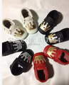 1pair retail new style crown Genuine leather baby fringe moccasins soft sole moccs booties toddler/infant newborn shoes