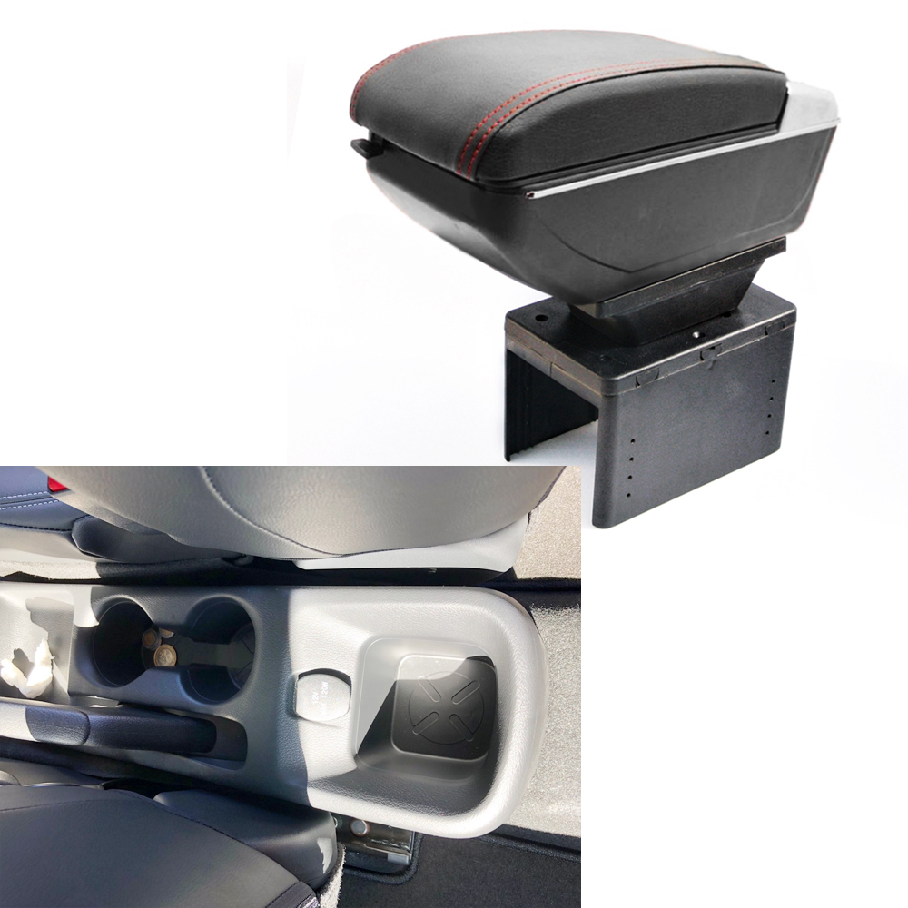 Armrest box For Nissan Kicks 2017 2018 Central Console Arm Store content box cup holder ashtray With Rise and Down Function Auto auto ashtray cup shaped shiny finish with hook