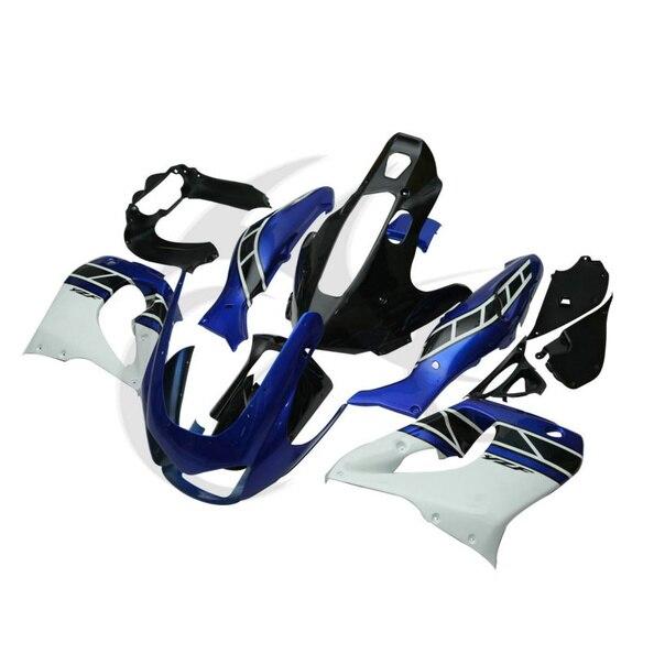 Белый синий ручной работы АБС Кузов комплект Обтекателя для YAMAHA YZF1000 YZF1000R 96-03