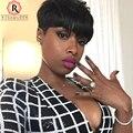27 Peças Tecer Cabelo Curto Para As Mulheres Negras Com Fecho Livre e cap 27 peças 3 pçs/lote curto colisão tecer cabelo cara produtos