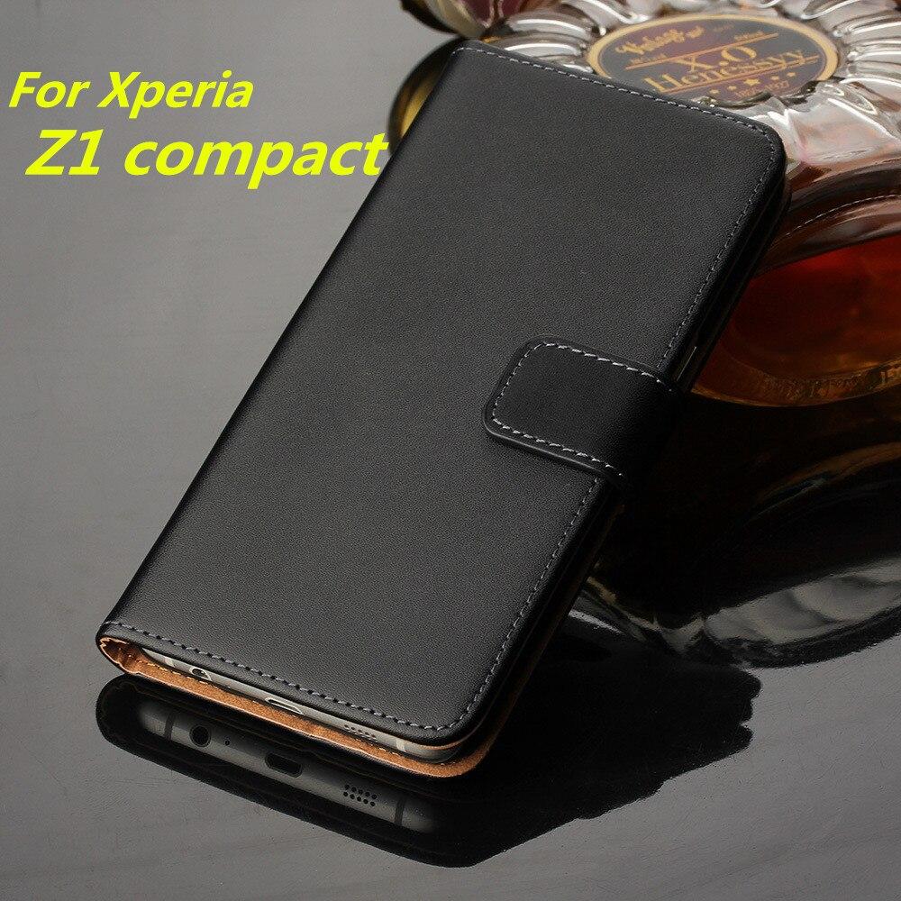 Z1 compact cas de couverture En Cuir De Luxe de Pochette Pour Sony Xperia Z1 compact D5503 carte shell Rétro Premium téléphone sacs GG