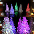 Christmas Decoration For Home Tree Ice Crystal Colorful Changing LED Desk Decor enfeites de natal FEN#