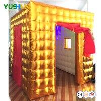 Светодиодный лампы надувные Photo Booth Аренда Digital Photo Booth вечерние фонов Красный Шторы свадебные фоны для украшения распродажа