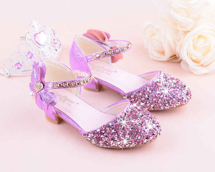 78fef79fe6ca ... New Children Princess Beading Sandals Kids Flower Wedding Shoes High  Heels Dress Shoes Party Shoes for