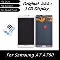 100% de la alta calidad blanco Original pantalla LCD táctil digitalizador asamblea para Samsung Galaxy A7 A700 A7000 reemplazo con herramientas