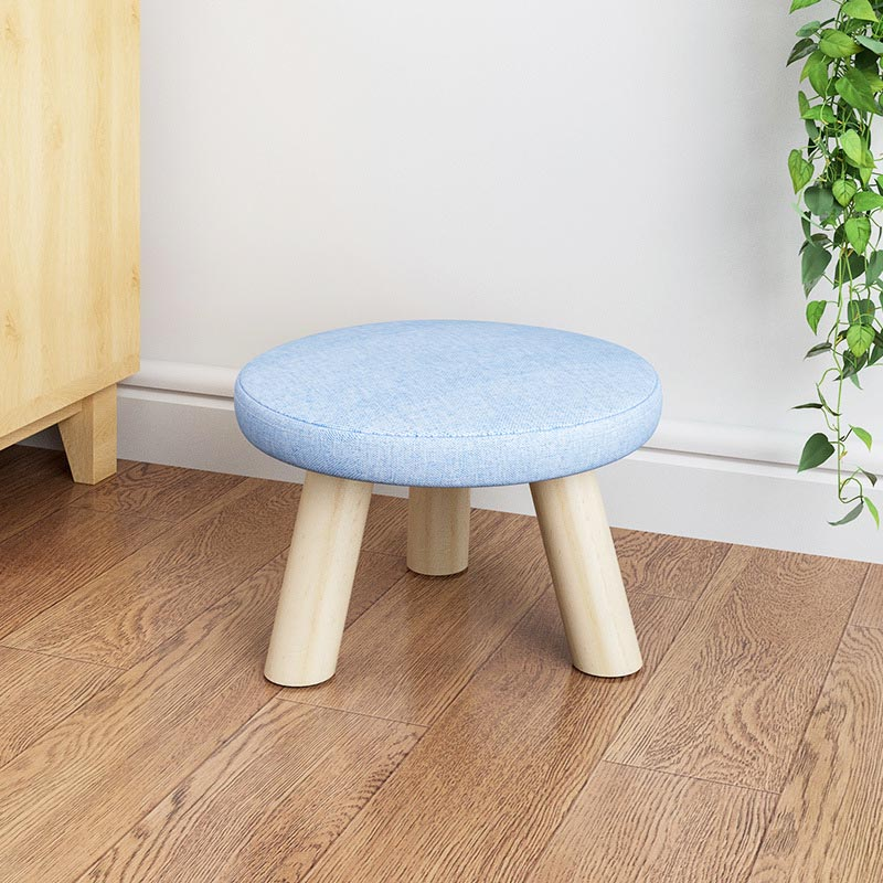 Image 3 - Fashion Children's furniture seat stool Ottomans Wooden cloth Doorway Change shoes Small chair Table side kids Children's Stools-in Children Stools from Furniture