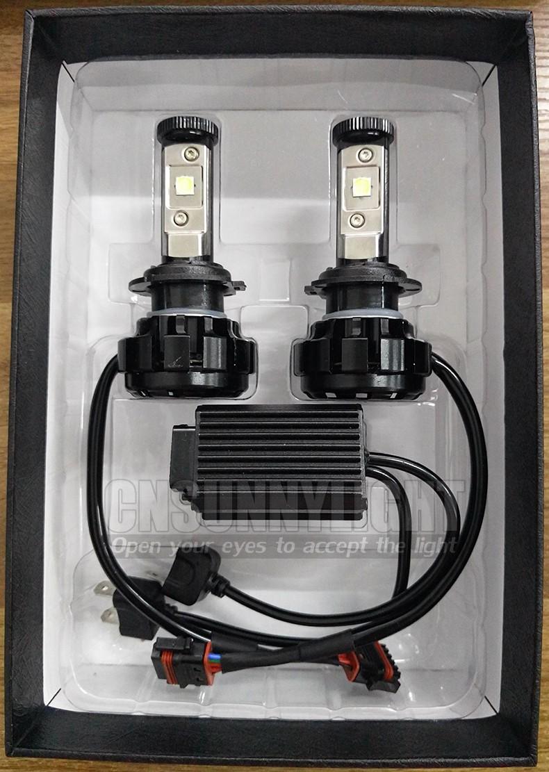 CNSUNNYLIGHT Car Turbo LED Headlight Kit Canbus H7 80W 10000LM Super Bright Replace Bulb with Anti-Dazzle Beam No Error Warning (8)