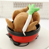 1pc Funny Plush Toy Stuffed Doll Roast Chicken Scallion Cute Baby Christmas Gift Set Children Play