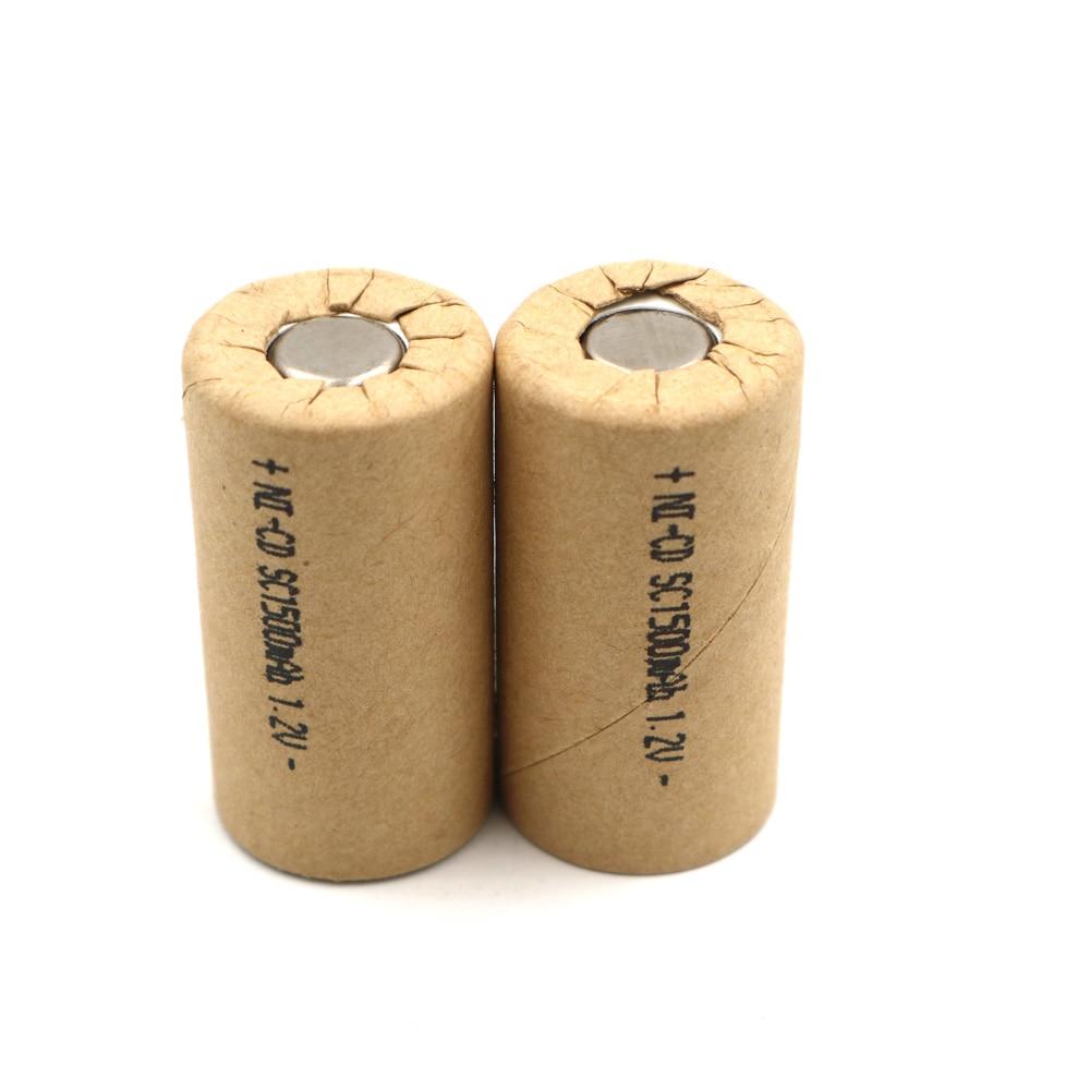 Ni-CD 1500mAh 30pcs SC1.5Ah Power Cell,rechargeable battery cell,power tool battery cell discharge rate 10C-15C