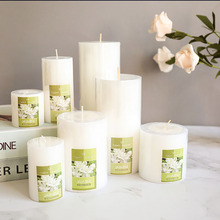 7pcs Plant Jasmine Candle White Light Romantic Long Pillar Scented Candles Birthday Tea Light Candele Decorative Candles 30C0041 цена 2017