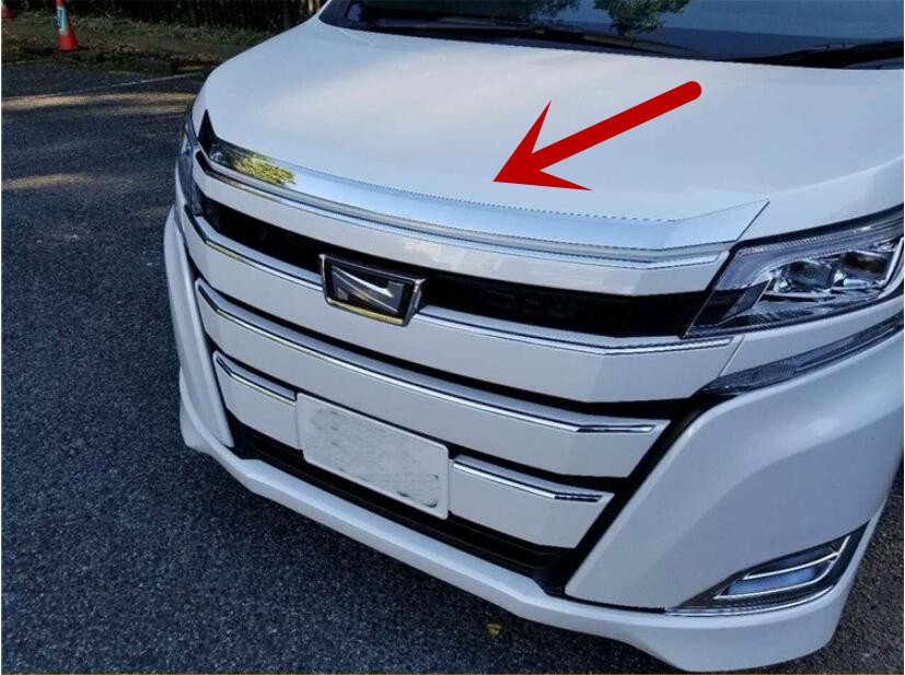 JIOYNG ABS Chrome Front Bumper Grille Hood Engine Cover Trims For 18 Toyota NOAH 2018 BY EMS abs chrome front bottom bumper cover trims grille strips car engine protection for toyota corolla 2017 2018 facelift accessories