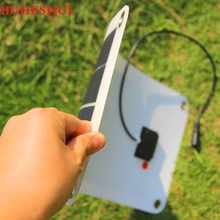 BUHESHUI 18V/5V 10.5W Portable Solar Panel Charger For 12V Battery Car Charger Mobile Phone Bank Semi-flexible New Free Shipping
