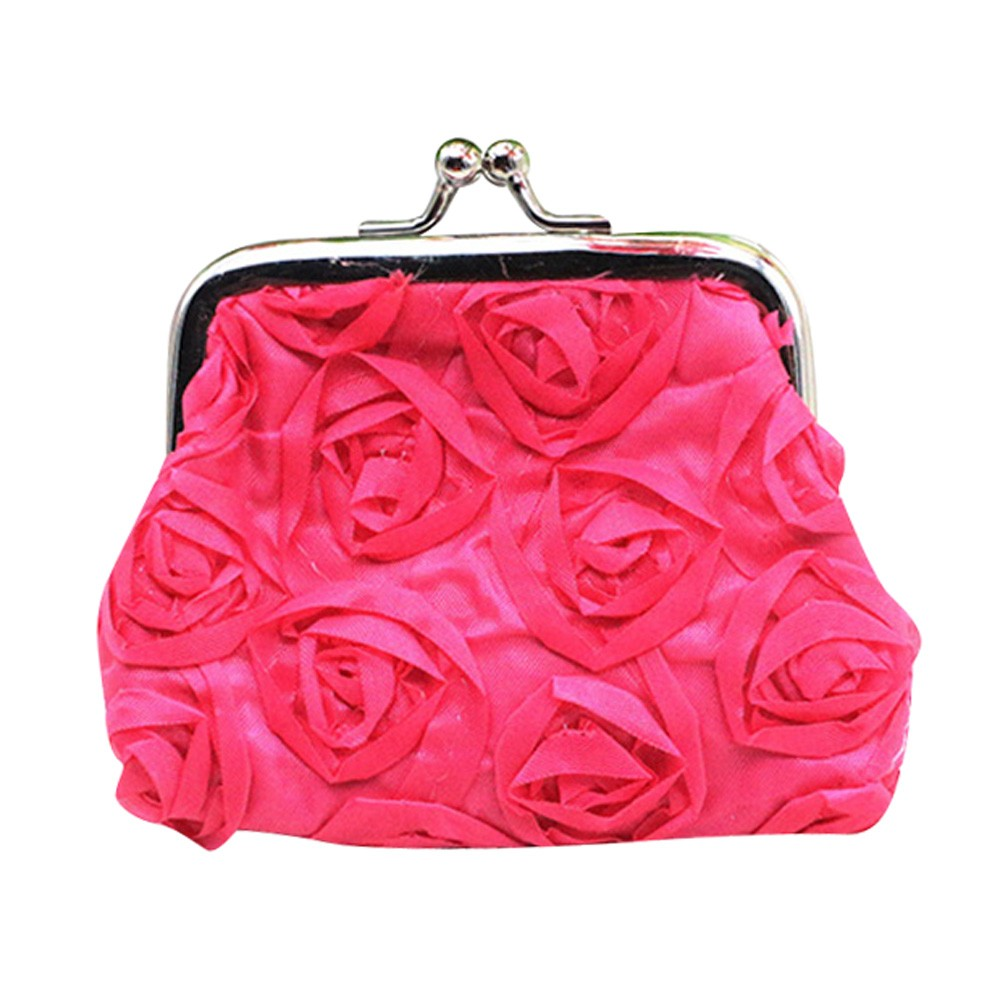 Fashion coin purse Womens lovely Rose Flower Small Wallet Coin Purse Clutch wallets super quality coin wallet bolsas feminina