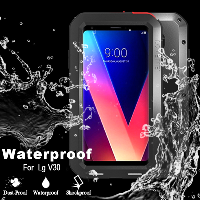 the latest db811 994ec US $35.3 |For LG V30 Case Luxury Hard Waterproof Shockproof Case For LG V30  Cover Original Love Mei 360 Full Protection Case For LG V30-in Fitted ...